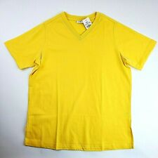 Cato T-Shirt Women's Size Small Yellow Short Sleeve V-Neck Top Style #1872 NEW