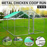 Wooden/Metal Chicken Coop Rabbit Hutch Pet Hen House Cage Run Poultry Backyard