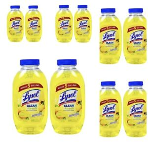 20 Lysol Cleaner & Fresh Multi-Surface Lemon 10.75 oz Concentrate, Free Shipping