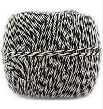 Black & White 500 Yard Baker Twine Roll JAM - (C2)