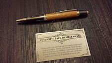 Pen made from Jack Daniels wooden barrel gun metal  xmas  Christmas