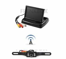"Kit retromarcia auto Monitor 4,3"" RICHIUDIBILE telecamera wireless senza fili"