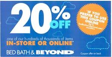 19 Bed Bath & Beyond 20% off Online or In Store Coupons BBB
