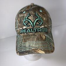 Realtree Camo Hat w/ Teal Logo
