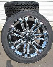 "22"" New Chevrolet Tahoe Silverado Suburban Chrome Rims 2854522 Nexen Tires 5666"