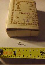 Full Box of 100 Mustad Round Fishing Hooks 92264 Nickel plated size 14