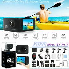 New AKASO V50 PRO SE Action Camera 4K/60fps Touch Screen WiFi EIS + 3x Batteries