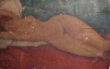 VINTAGE MODERNIST NUDE WOMAN PORTRAIT PRINT