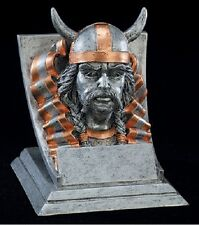 "Viking, 4"" tall Resin School Mascot Trophy, Free Engraving"