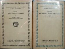 AN INTRODUCTION TO THE LANGUAGE OF DRAWING AND PAINTING - ARTHUR POPE - 2 VOLS.