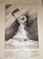 1900 Pubblicità Lux Sapone Fiocchi ~ Bello Scatola Close Up
