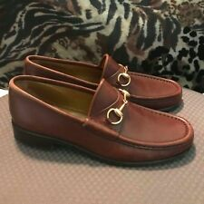 gucci horsebit leather loafers size 8