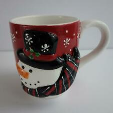 Cracker Barrel I Love Snow Days 3D Christmas Snowman Coffee Mega Cup Mug 24 Oz