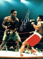 Smokin Joe FRAZIER Signed Autograph Boxer Large 16x12 Boxing Photo AFTAL COA