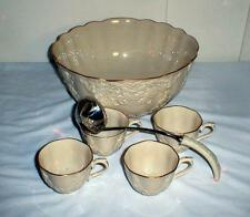 LENOX HOLIDAY HOSTESS PUNCH BOWL, CUPS AND LADLE