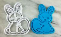 Bunny Holding Egg Cookie Cutter 2-Piece, Outline & Stamp #1 Easter Rabbit