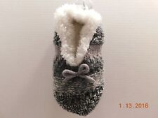 SONOMA Goods for Life Cable Knit Fuzzy Babba Ballerina Slippers Sz S / M NWT