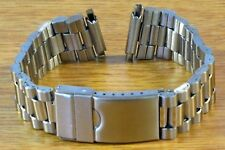President Style Silver Tone 16mm-22mm Stainless Steel Metal Watch Bracelet Band