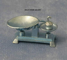 Pewter Kitchen Weighing Scales, Dolls House Miniatures, Kitchen Accessory