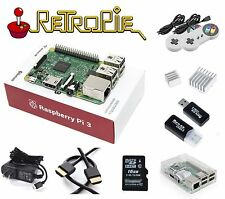 RASPBERRY PI 3 Model B RetroPie Game Console Kit with 2 Controlers BMC2837 2.5A