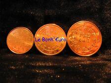 Monnaie 1,2,5 centimes cent cts euro Portugal 2002, neuves du rouleau, UNC