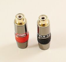 2 x Metel High Quality RCA Phono Female Socket Solder Adapter Terminal AV Audio
