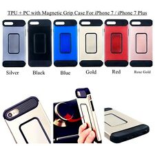 &TPU+ Scrub Oil Painting PC Case with Magnetic Plate Grip for iPhone 7 / 7 Plus