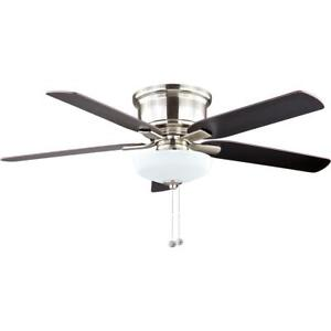 Holly Springs Low Profile 52 in. Brushed Nickel Ceiling Fan Replacement Parts