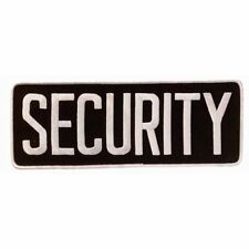 """SECURITY Large Uniform Jacket Back Patch 11"""" x 4"""" with 3"""" High WHITE letters ..."""