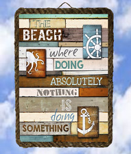 Beach 2 Ocean Sayings Sea Lakel Decor Prints Plaques lalarry Vintage framed