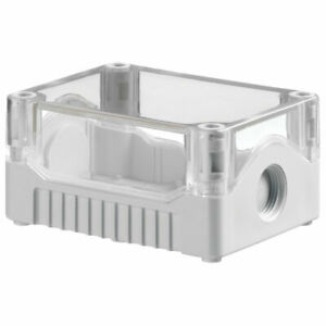 IP67 SEALED ABS JUNCTION BOX CLEAR/GREY PSB2TG 106 X 80 X 53mm