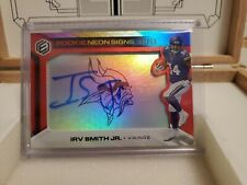2019 panini elements football Irv Smith Jr. neon signs 48/50 Red