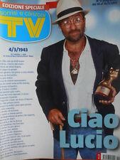 TV Sorrisi e Canzoni n°11 2012 Numero Storico Morte di Lucio Dalla [D5]