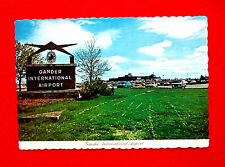 Lot of two Gander Newfoundland Postcards Airport and Landmarks msc4