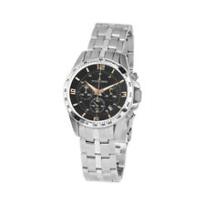 Jacques Lemans Woman's Liverpool 36mm Gray Dial Stainless Steel Chrono Watch