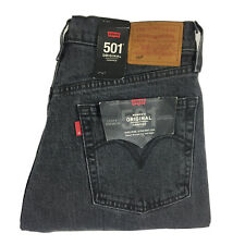 Levis 501 Womens Grey Button Fly Cropped Jeans High Rise Straight Leg 30x28 NEW