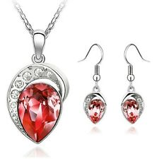 Silver & Crystal Necklace and Earring Sets UK SELLER