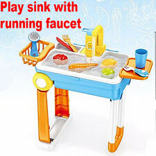 Kids Play Sink Portable Pretend Kitchen Wash Up Water Briefcase Water Play Agua