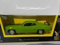 Plymouth GTX, 1971, - Green, - White, Model, Car, 1/43, Scale, American Muscle.