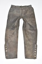 "VINTAGE MARRONI IN PELLE COUNTRY LINE Affusolato Donna Pantaloni Pants Taglia W30"" L27"""
