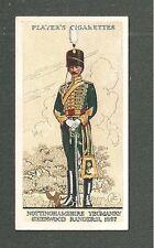 The NOTTINGHAMSHIRE YEOMANRY SHERWOOD RANGERS 1897 Territorial Uniform 1939 card