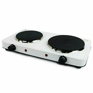 Electric Hob Double Ring Table Top Hot Plate Portable Cooker