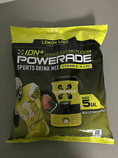 Powerade Powder Drink Mix, 5 gallon pouch bag Lemon Lime (Yellow)