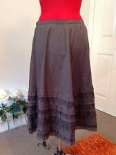 Cotton/ silk JIGSAW party, event, evening or day skirt size 10 vgc, olive green