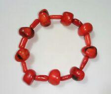 Antique Genuine Red Coral Bead Bracelet, 27.6 g.