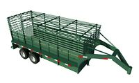 16' Gooseneck Trailer Plans - DIY Homemade Flat Deck Carrier Build Your Own