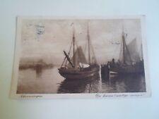 Vintage Postcard SCHEVENINGEN De Haven (Mistige Morgen) Franked 1916     §A329
