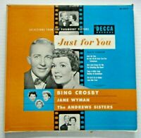 Just For You, Bing Crosby - Decca  33 RPM Album 1952 EX Cover