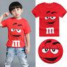 Cartoon Tee Kids Boy Short Sleeve Cotton T-shirt Tops Blouse 2 3 4 5 6 7 Years
