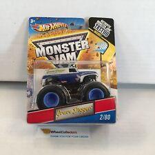 #26  Grave Digger Silver * Hot Wheels Monster Jam w/ Tattoo * A1